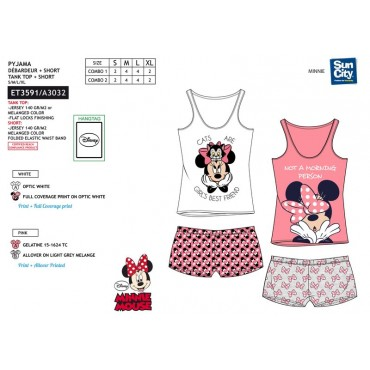 ET3591 - PIJAMA MINNIE