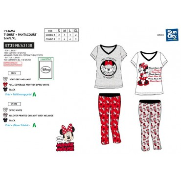 ET3598 - PIJAMA MINNIE