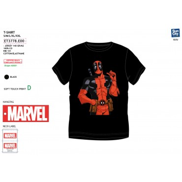 ET3778.E00 - TSHIRT DEADPOOL