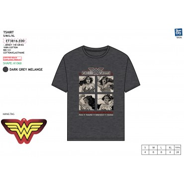 ET3816.E00 - TSHIRT WONDER WOMAN
