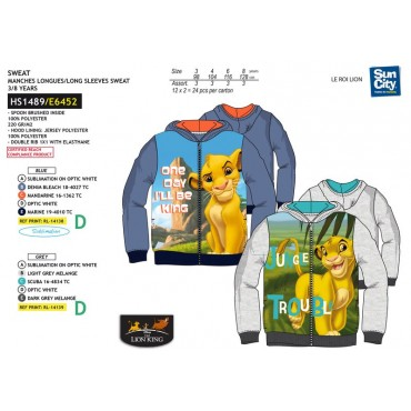 HS1489 - SWEAT CAPUZ REI LEAO