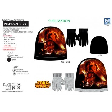 PH4174 - GORRO+LUVAS STAR WARS
