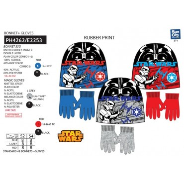 PH4262 - GORRO+LUVAS STAR WARS