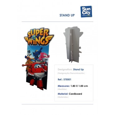 ST5001 - STAND UP 180X100CM SUPER WINGS