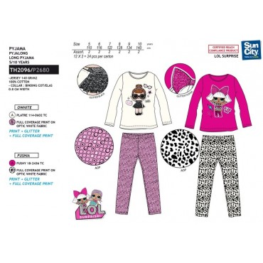 TH2096 - PIJAMA LONGO JERSEY LOL SURPRI