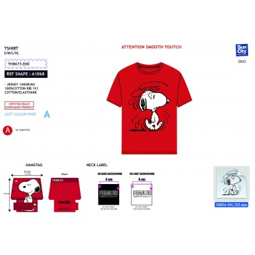TH8673.E00 - TSHIRT SNOOPY